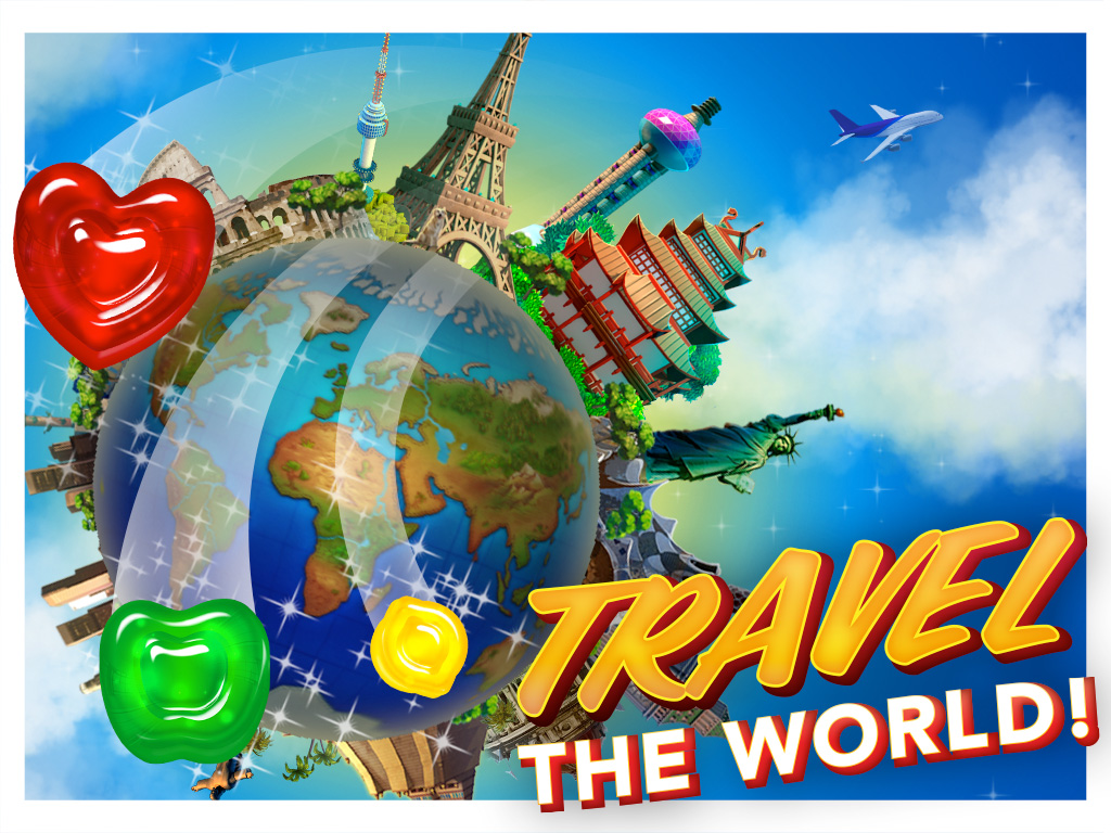 gummy drop travel the world play on ipad iphone and android