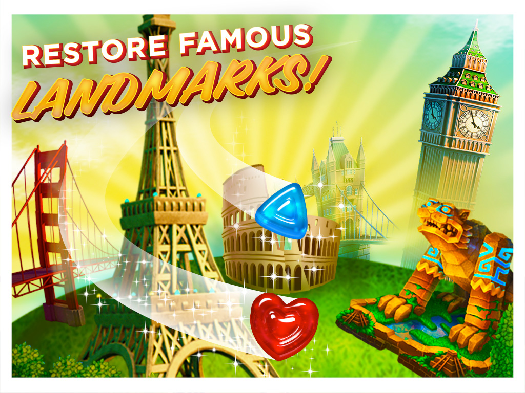 Gummy drop travel the world play on ipad iphone and android for How do you play go fish