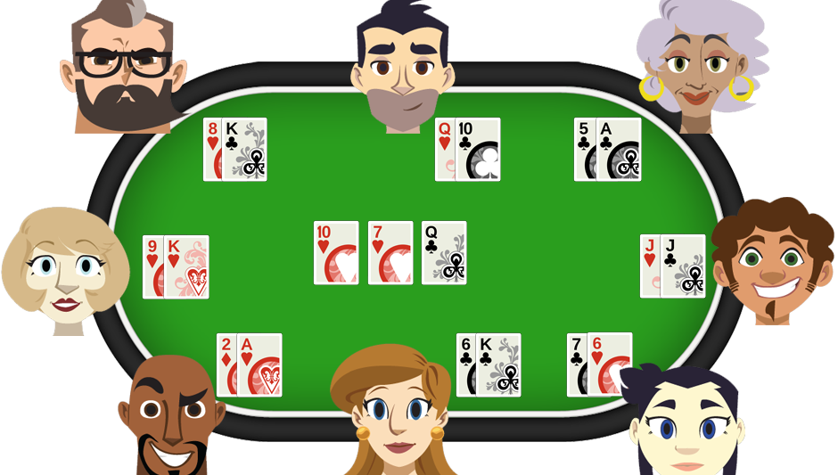 poker games community cards