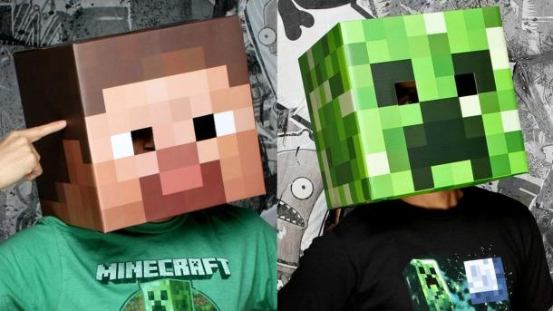 Games inspired halloween fun big fish blog - Minecraft head decoration ...