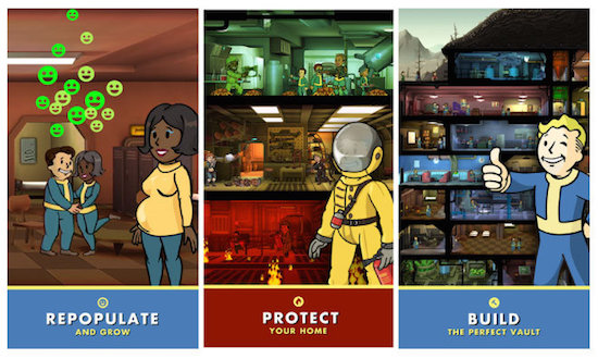 The variety of wonderous things you can do in Fallout Shelter.