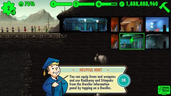 Fallout Shelter gameplay.