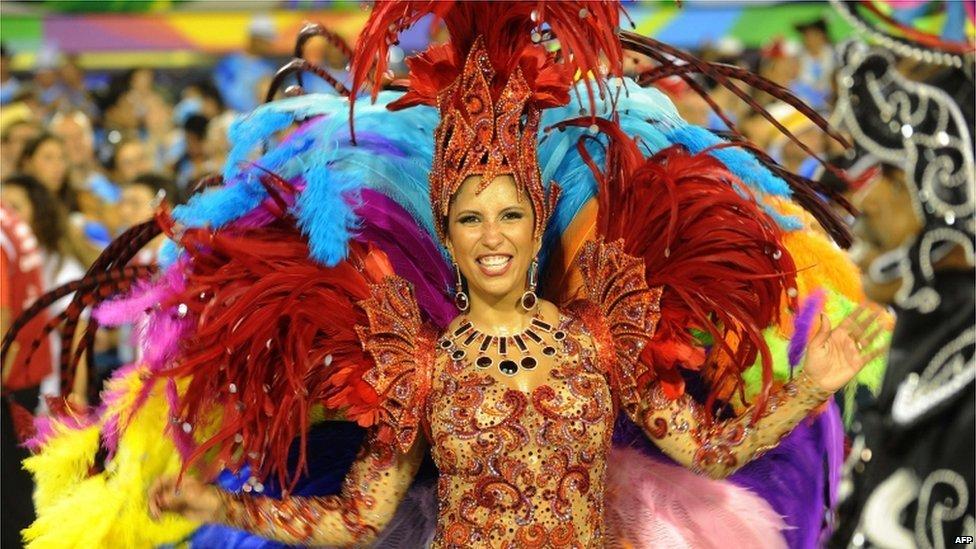 Experiencing carnaval in rio de janeiro and with gummy drop big