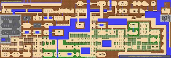 Overworld map for